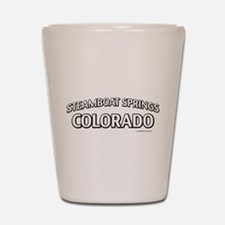 Steamboat Springs Colorado Shot Glass