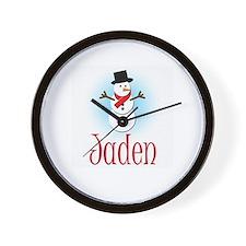 Snowman - Jaden Wall Clock