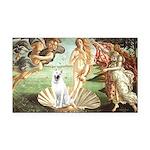 Venus - White German Shep Rectangle Car Magnet