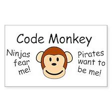 Code Monkey Rectangle Decal