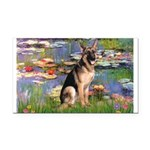 5,5x7,5-Lilies2-G-Shep2.PNG Rectangle Car Magnet