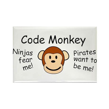 Code Monkey Rectangle Magnet