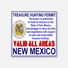 Treasure Hunting Permit New Mexico (Front & Back)