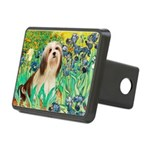 Lhasa Apso 4 - Irises.png Rectangular Hitch Cover