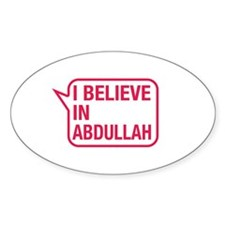 I Believe In Abdullah Decal