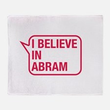 I Believe In Abram Throw Blanket