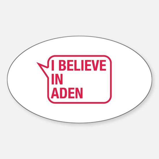 I Believe In Aden Decal