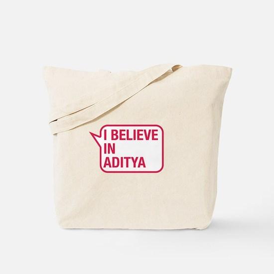 I Believe In Aditya Tote Bag