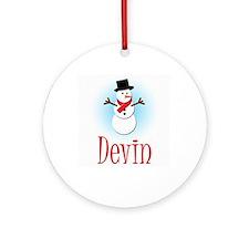 Snowman - Devin Ornament (Round)