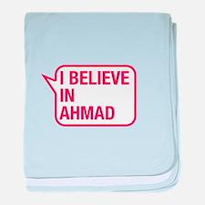I Believe In Ahmad baby blanket