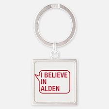 I Believe In Alden Keychains