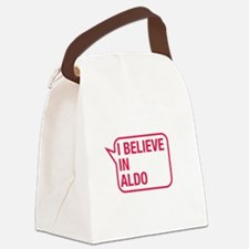 I Believe In Aldo Canvas Lunch Bag