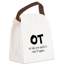 OT Your Passion Canvas Lunch Bag