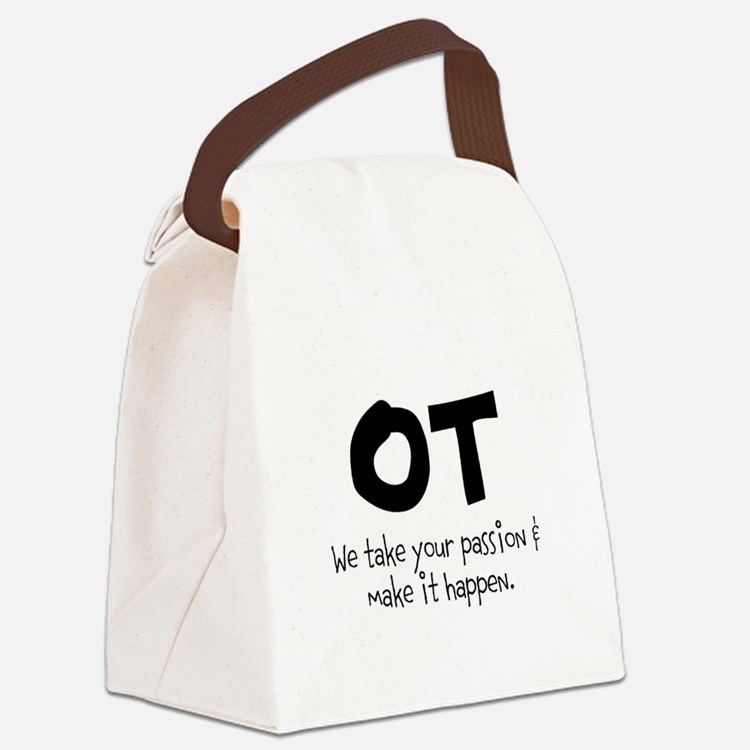OT Your Passion Canvas Lunch Bag