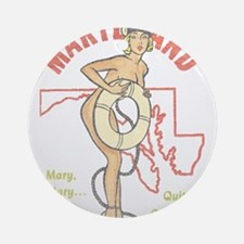 Faded Maryland Pinup Ornament (Round)