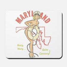 Faded Maryland Pinup Mousepad
