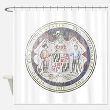 Maryland Vintage State Seal Shower Curtain