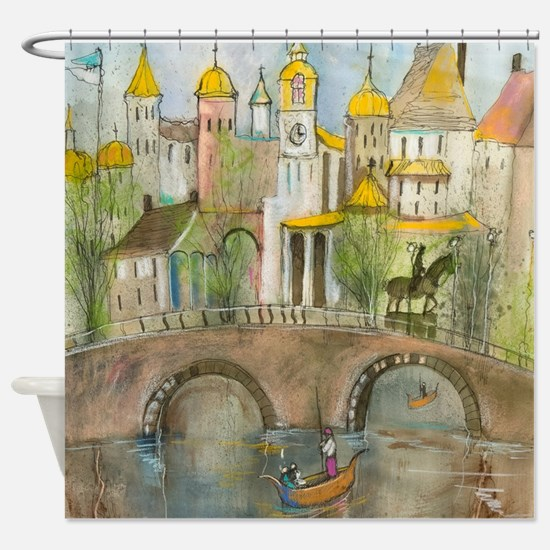 Views Of Italy Shower Curtain