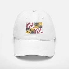 Vintage Maryland Flag Baseball Baseball Baseball Cap