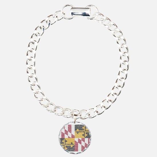 Vintage Maryland Flag Bracelet