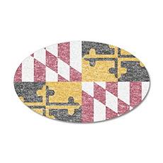 Vintage Maryland Flag Wall Decal