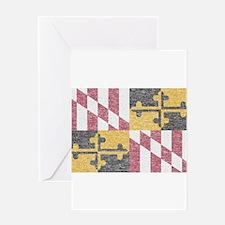 Vintage Maryland Flag Greeting Card