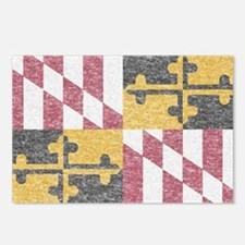 Vintage Maryland Flag Postcards (Package of 8)