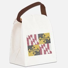 Vintage Maryland Flag Canvas Lunch Bag