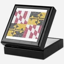 Vintage Maryland Flag Keepsake Box