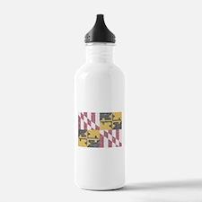 Vintage Maryland Flag Water Bottle