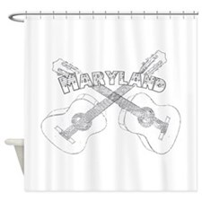 Maryland Guitars Shower Curtain