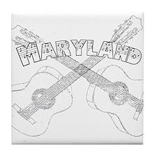 Maryland Guitars Tile Coaster