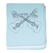 Maryland Guitars baby blanket