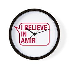 I Believe In Amir Wall Clock
