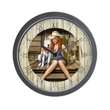 Southern Girl Wall Clock