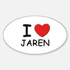 I love Jaren Oval Decal