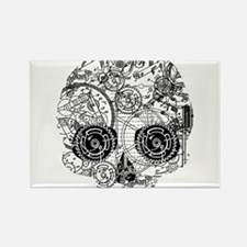 Clockwork Skull Rectangle Magnet