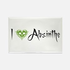 I Love Absinthe Rectangle Magnet