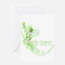 Absinthe Fairy Flying Greeting Card