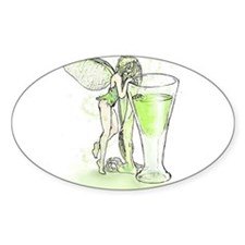 Absinthe Fairy Toying With Glass Decal