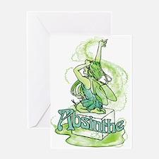 Absinthe Sugar Cube Fairy Greeting Card