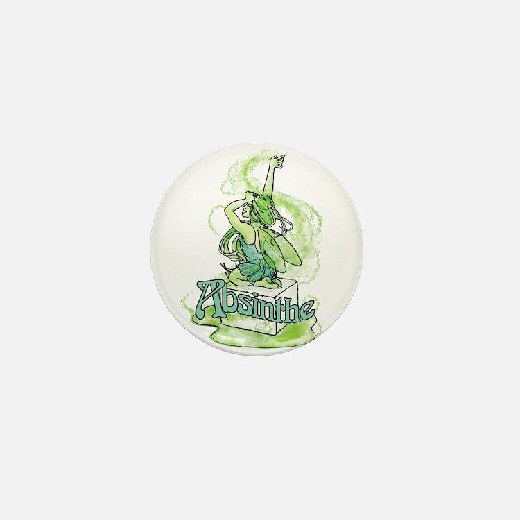Absinthe Sugar Cube Fairy Mini Button