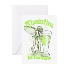 Absinthe Fairy With Glass Greeting Card