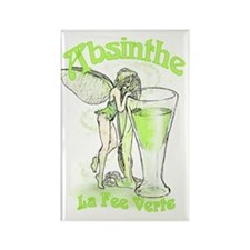 Absinthe Fairy With Glass Rectangle Magnet