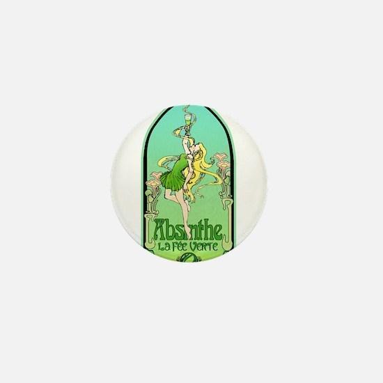 Art Nouveau Absinthe La Fee Verte Mini Button