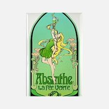 Art Nouveau Absinthe La Fee Verte Rectangle Magnet