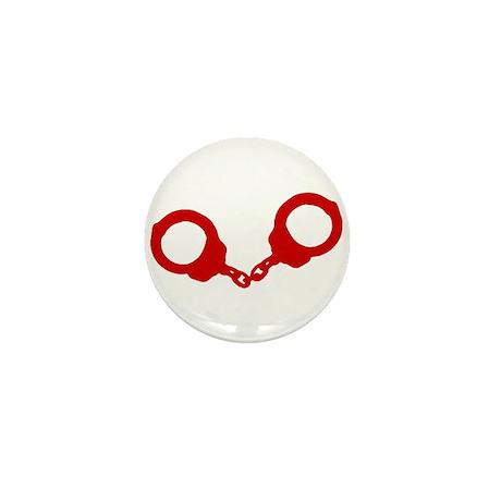 Red Handcuffs Mini Button