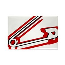 Safety Pin Rectangle Magnet