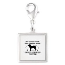 Funny Belgian Laekenois dog mommy designs Silver S