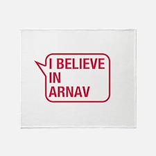 I Believe In Arnav Throw Blanket